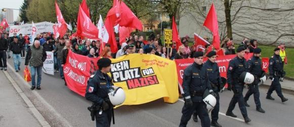 Antifa Demo Braunau/Inn 20. April 2013
