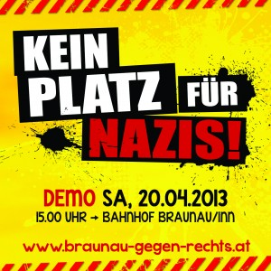 Antifa-Demo Braunau/Inn - 20. April 2013