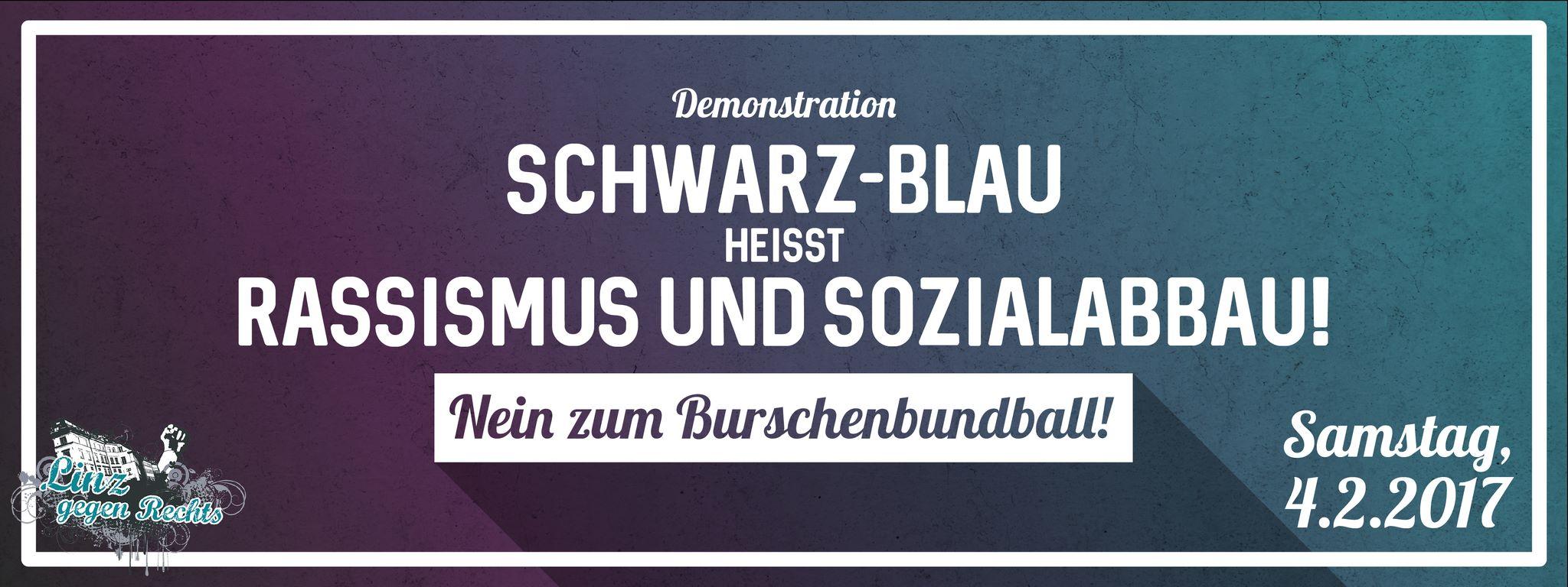 Demo gegen den Burschenbundball 2017