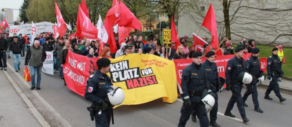 Antifa Demo Braunau/Inn 20. April 2013