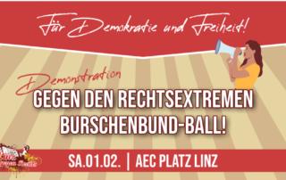 Demo gegen den Burschenbundball